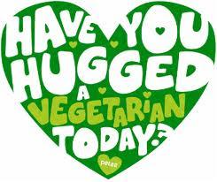 abraza a un vegetariano